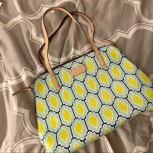 Kate Spade ♠️ Yellow & Blue Large Handbag Like 🆕!